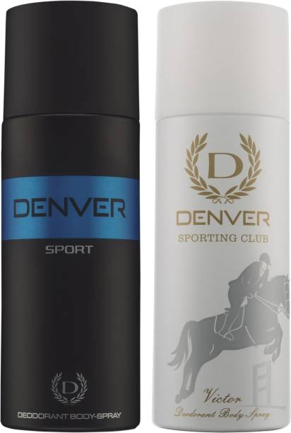 DENVER Blue Sport and Victor Deodorant Spray  -  For Men