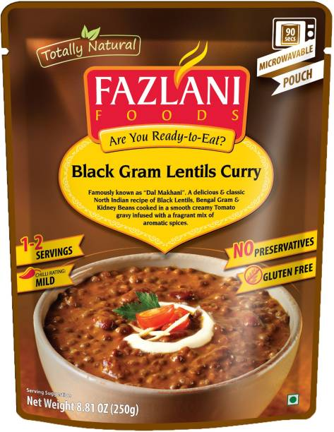 FAZLANI FOODS Dal Makhani (Black Gram Lentils) Curry, (Pack of 1, 250gm) 250 g