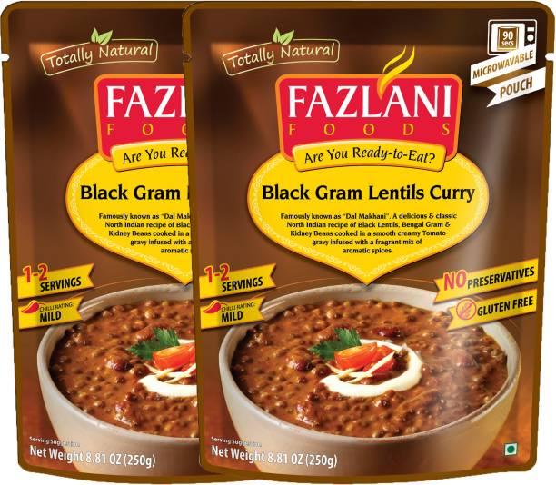 FAZLANI FOODS Dal Makhani (Black Gram Lentils) Curry, (Pack of 2, 250gm each) 500 g