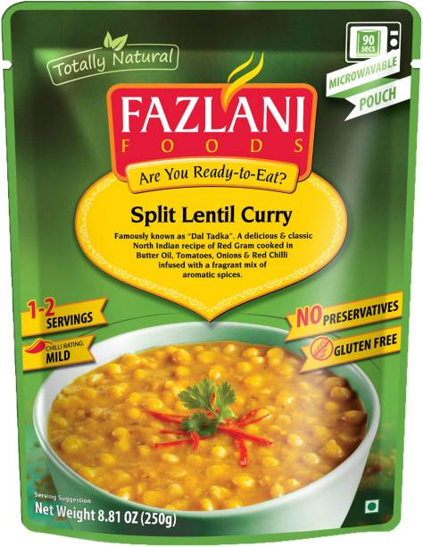 FAZLANI FOODS Dal Tadka (Spiced Yellow Lentils) Curry, (Pack of 1, 250gm) 250 g
