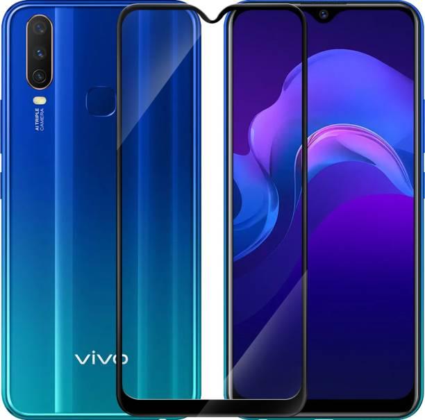 Hupshy Edge To Edge Tempered Glass for Vivo Y12, Vivo Y15, Vivo Y17