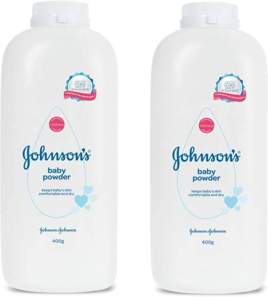 JOHNSON'S Baby Powder 400gm X 2 = 800gm ( Keeps Baby's Skin Comfortable And Dry ) Pack of - 2
