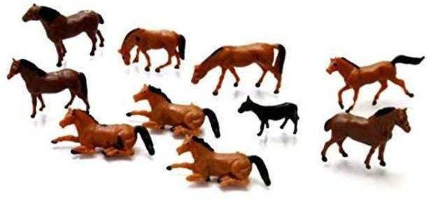 Aadya Crafts Model Acessories Plastic Horse Medium