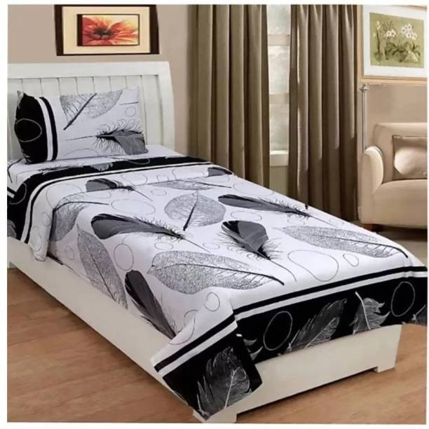 Decor Home Readiness 144 TC Polycotton Single 3D Printed Bedsheet