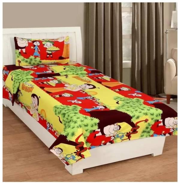 Decor Home Readiness 144 TC Polycotton Single Cartoon Bedsheet