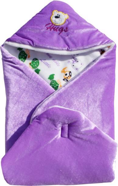 Miss & Chief Cartoon Crib Hooded Baby Blanket