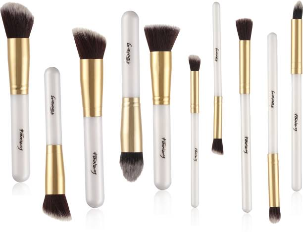 FOOLZY Pack of 10 Professional Makeup Brushes