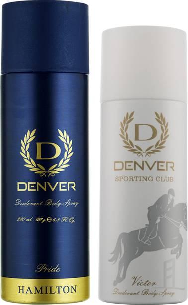 DENVER Pride and Victor (Pack of 2) Deodorant Spray  -  For Men