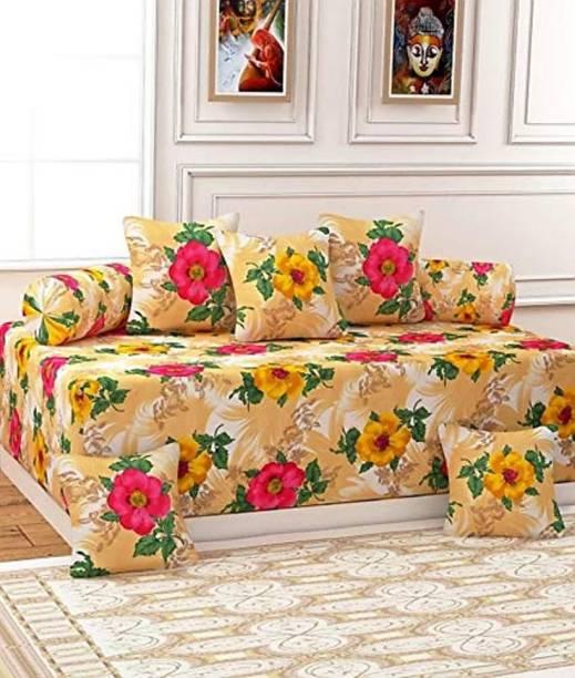 RAMPART Cotton Floral Diwan Set