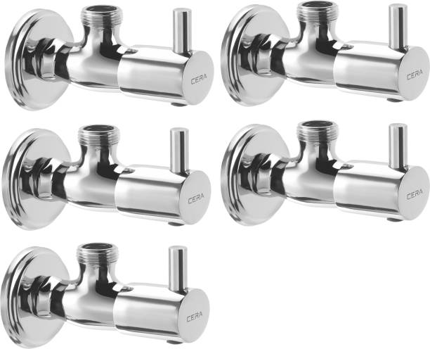 CERA - Angle Valve (Quarter Turn) with Wall Flange Set of 5 pcs Angle Cock Faucet