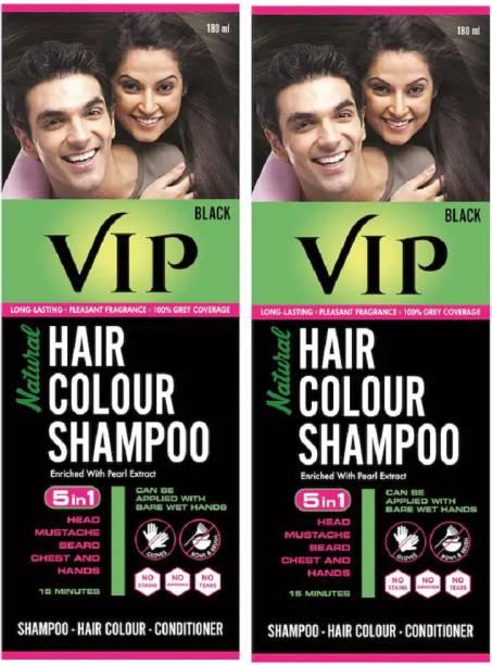 VIP Natural Hair Colour Shampoo , Black