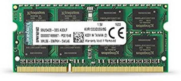 KINGSTON 1333Mhz Laptop RAM DDR3 8 GB (Dual Channel) Mac, Laptop (KVR1333D3S9/8 , PC3 10600S)