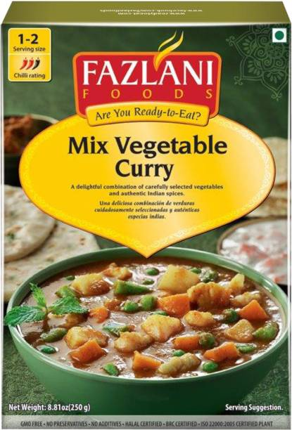 FAZLANI FOODS Ready to Eat Mix Vegetable Curry , (Pack of 1, 250 gm) 250 g