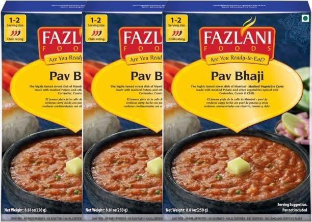 FAZLANI FOODS Ready to Eat Pav Bhaji , (Pack of 3, 250 gm each) 750 g