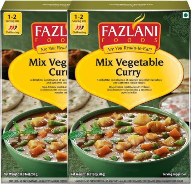 FAZLANI FOODS Ready to Eat Mix Vegetable Curry , (Pack of 2, 250 gm each) 500 g