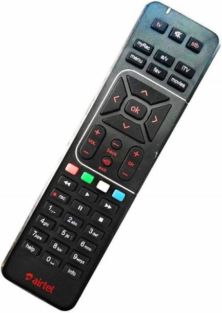 Airtel Universal Digital Tv DTH 100% Original HD Recording Airtel Remote Controller