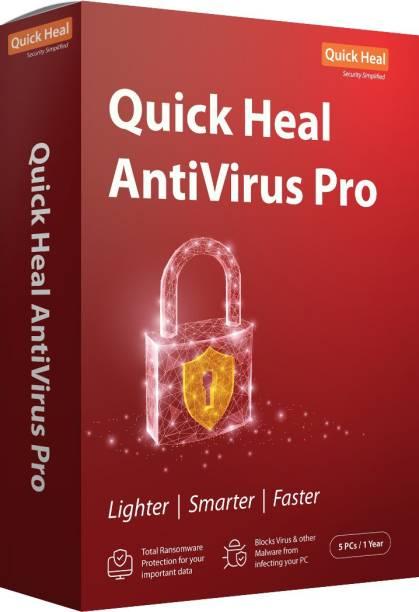 QUICK HEAL Anti-virus 5 User 1 Year