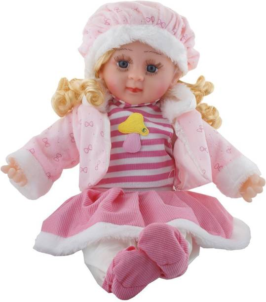 Fixoria Singing Soft Cute Looking Musical Rhyming Baby Doll Toy Princess Laughing and Talking Doll For Kids
