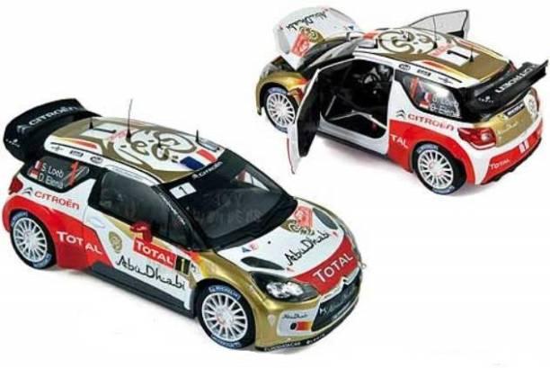 Bburago Die-Cast 1:32 Scale Rally Car - 2013 Citroen WRT #1 (Sebastien Loeb)