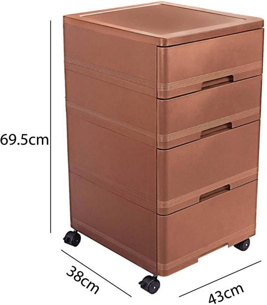 cello Storewell Chest Of Drawers,Ice Brown Plastic Free Standing Chest of Drawers