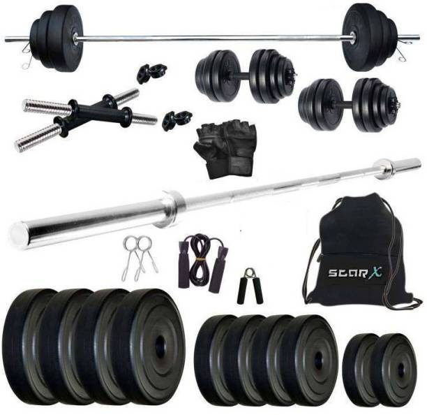Star X 25 kg PVC 25 Kg Weight Combo of 5Ft Rod,Bag and Accessories Home Gym Combo