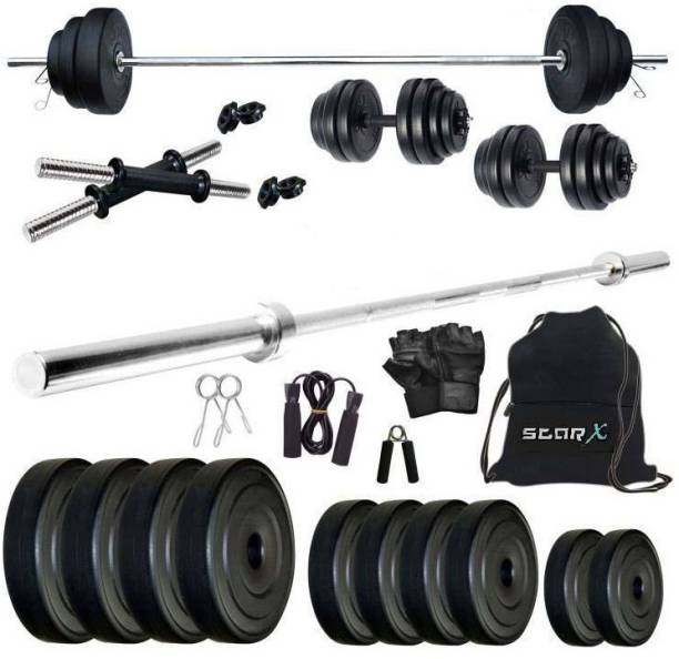 Star X 30 kg PVC 30 Kg Weight Combo of 5Ft Rod,Bag and Accessories Home Gym Combo