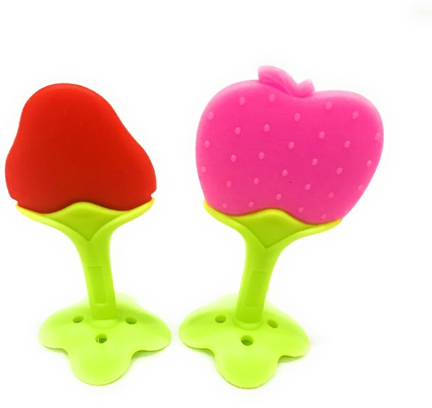 Fruits Shaped Baby Soft Bite Pacifier Safe Silicone Teether Toys Fruit N7