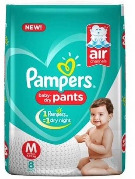 Pampers Baby-Dry Pants Diaper (M-8) - M
