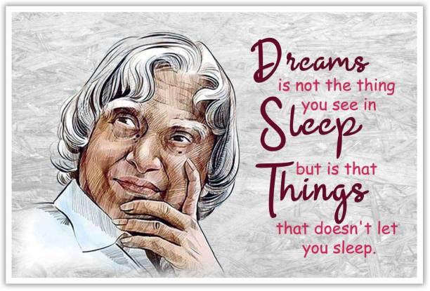 Thought Of A.P.J Abdul Kalam Paper Poster Paper Print