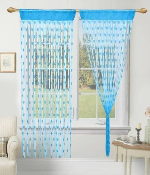 Panipat Textile Hub 210 cm (7 ft) Net Door Curtain (Pack Of 2)