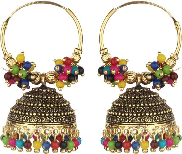 ce33b9a3b8f447 Styles Creation Stylish, Designer, Party Wear Jhumka Jhumki Earrings  ARTFLJWL210 Beads Alloy, Stone