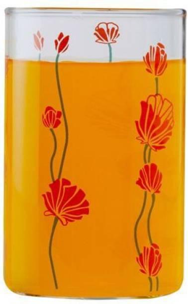 BOROSIL (Pack of 6) Large Bug Vision D'Signer Glass Set, 295 ml, 6-Pieces, Transparent Glass Set