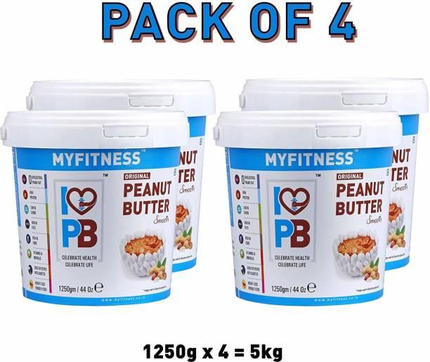 MYFITNESS Smooth Peanut Butter (1250g) 5000 g