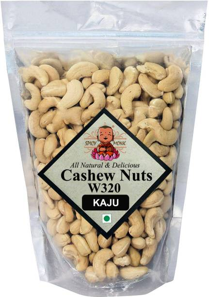 Spicy Monk Whole W320 Cashew, 0.5 kg (500 gms) Cashews