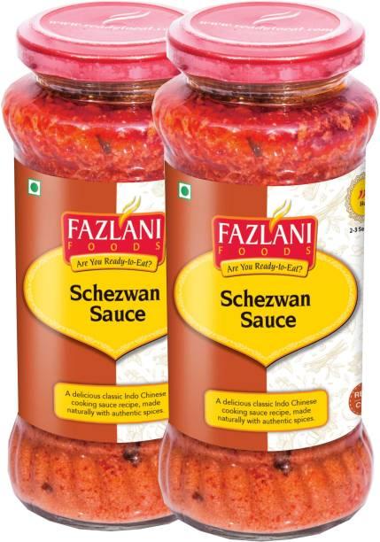 FAZLANI FOODS Ready to Eat Schezwan Sauce (Pack of 2, 285gm each) Sauce