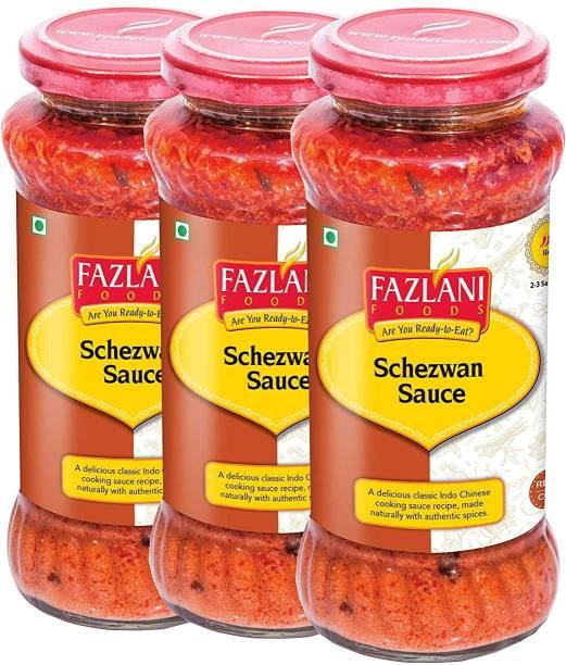 FAZLANI FOODS Ready to Eat Schezwan Sauce (Pack of 3, 285gm each) Sauce