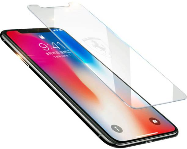 Ferrari Tempered Glass Guard for iPhone XR Etched
