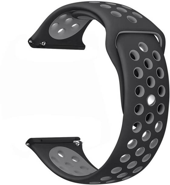 CellFAther Silicone Dotted Band Strap (Black/Gray) Smart Watch Strap