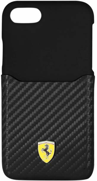 Ferrari Back Cover for iPhone 7 / iPhone 8 SP America series Carbon Fibre Finish - Inbuilt Credit Card holder Case