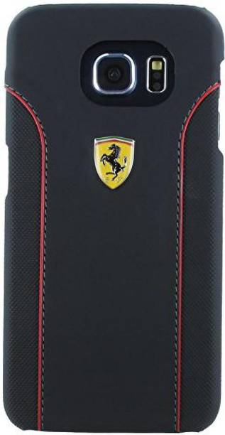 Ferrari Back Cover for Samsung Galaxy S6 488 PistaSpider Double Stitched Dual-Material PU Leather Case
