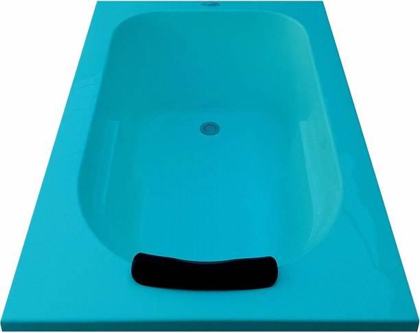 MADONNA PREFIXCYA MADONNA Prestige Acrylic 4 feet Rectangular Bathtub - Cyan Blue Undermount Bathtub