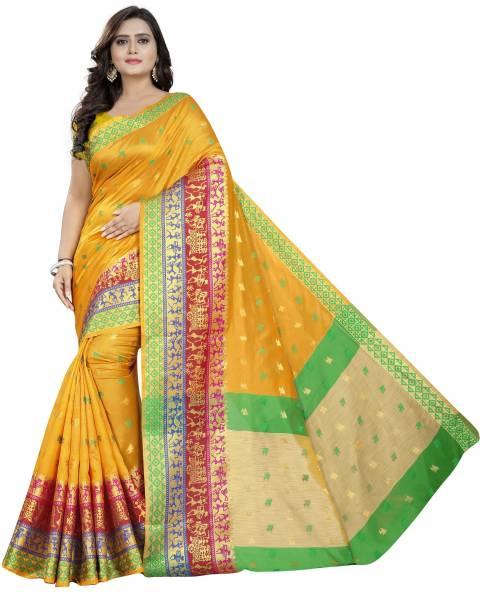 7fbcb8bd05922f ecolors fab Embroidered Paithani Pure Silk, Cotton Silk, Art Silk, Silk  Blend,