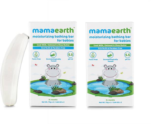 MamaEarth Bathing Bar for Babies - Pack of 4