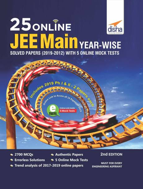 25 Online JEE Main Year-wise Solved Papers with 5 Online Mock Tests 2nd Edition