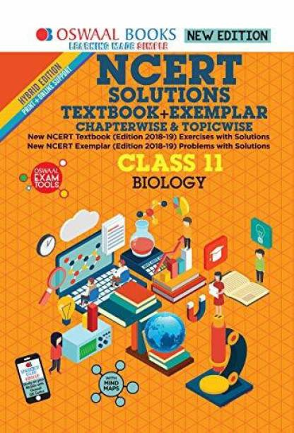 Oswaal NCERT Problems - Solutions (Textbook + Exemplar) Class 11 Biology Book (For March 2020 Exam)