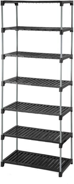 MEDED CGS Extra Strong Multipurpose Tier Shoes, Clothes, Books & Utility Rack Plastic, Steel Wall Shelf