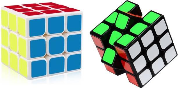 AGAMI 3x3 MOYU Mofang Jiaoshi Black and White High Speed Cube