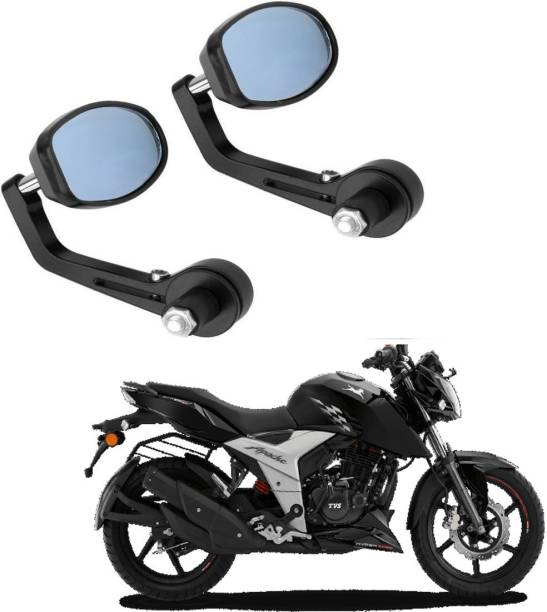 NRS Manual Rear View Mirror, Dual Mirror, Driver Side For TVS Appache RTR 160