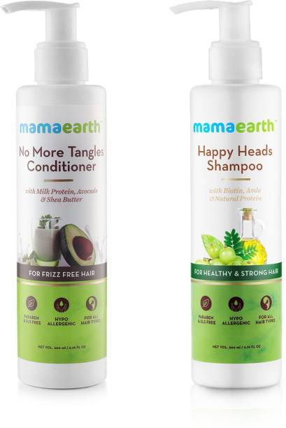 MamaEarth Natural Shampoo & Conditioners with Biotin, Protien, Bhringraj, Amla