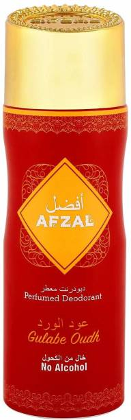 AFZAL Non Alcoholic Gulabe Oudh Deodorant 200 Ml Deodorant Spray  -  For Men